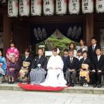 平成27年5月9日 森家・福田家挙式 ご結婚おめでとうございます