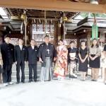 平成25年10月19日西村家・中嶋家挙式ご結婚おめでとうございます