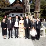 平成26年2月1日橋本家・吉里家挙式ご結婚おめでとうございます
