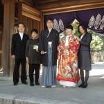 平成26年10月30日畑中家・横堀家挙式ご結婚おめでとうございます