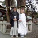平成27年2月23日 竹中家・山路家挙式 ご結婚おめでとうございます