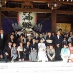 平成27年6月6日 渡部家・佐山家挙式 ご結婚おめでとうございます